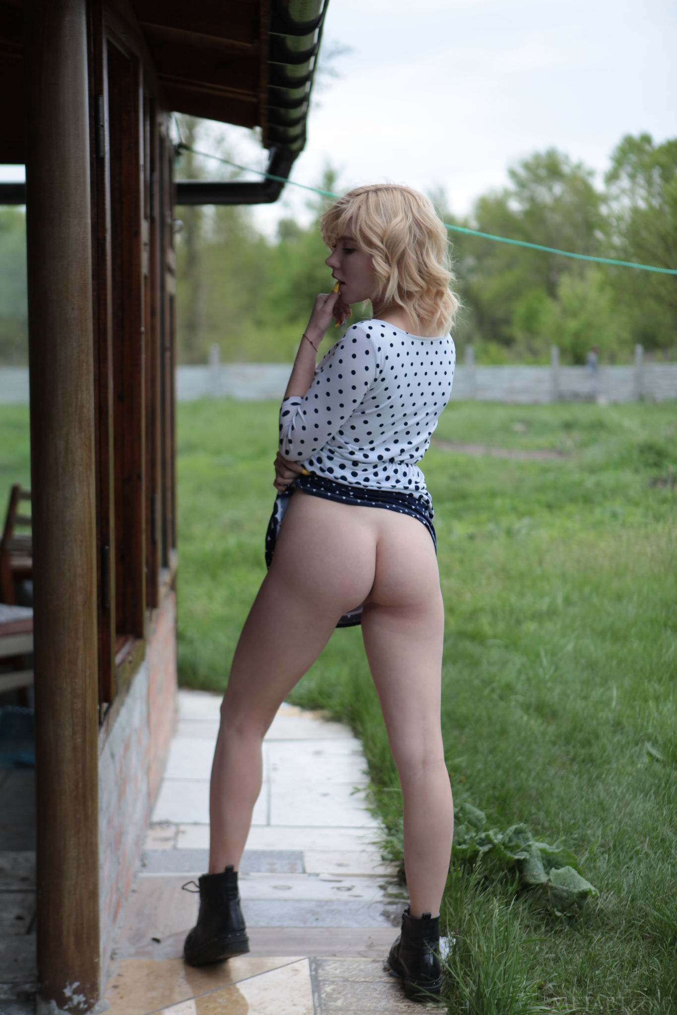 The Blue-eyed Ukrainian Beauty Is A Natural Exhibitionist 08