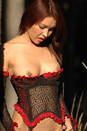 Hot Asian Beauty In Sexy Corset
